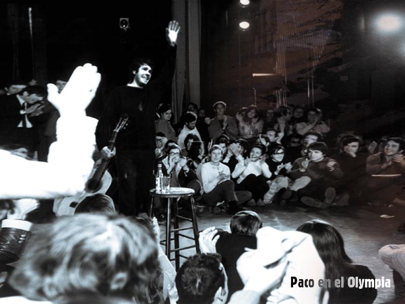 Web Oficial De Paco Ibáñez A Flor De Tiempo Fotos Paco Ibáñez En El Olympia